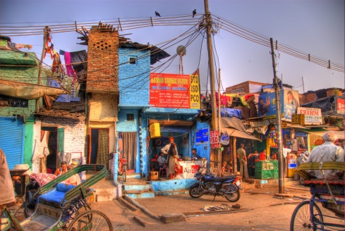 Colorful Street, Delhi, India